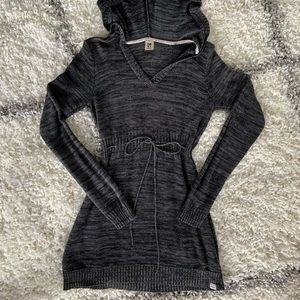 Roxy Long Hooded Sweater tunic dress